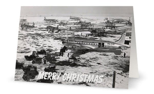 KLM ROYAL DUTCH AIRLINES DOUGLAS DC4 DC3 IN SNOW CHRISTMAS CARD - LIMITED EDITION