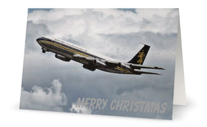 BCAL BRITISH CALEDONIAN AIRWAYS BOEING 707  CHRISTMAS CARD - LIMITED EDITION