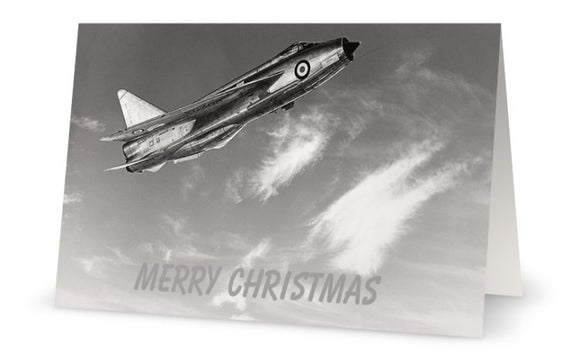 ENGLISH ELECTRIC LIGHTNING CHRISTMAS CARD - LIMITED EDITION