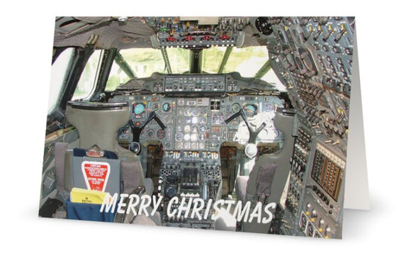 BRITISH AIRWAYS CONCORDE FLIGHT DECK CHRISTMAS CARD - LIMITED EDITION