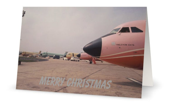 COURT LINE BAC 111 LUTON AIRPORT  CHRISTMAS CARD - LIMITED EDITION