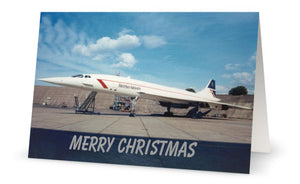 BRITISH AIRWAYS CONCORDE CHRISTMAS CARD - LIMITED EDITION