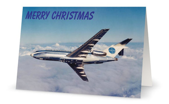 PAN AM PAN AMERICAN WORLD AIRWAYS BOEING 727  Christmas Card (Limited Edition) -