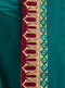 Teal Blue Silk Saree with Maroon Blouse - VANYA