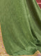 Fern Green Silk Saree with Rosy Brown Blouse - VANYA
