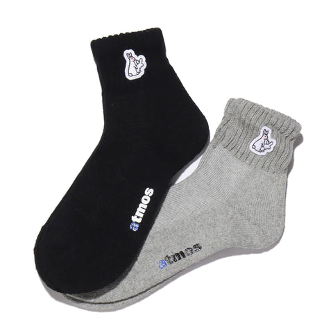 # FR2 X atmos Rabbit Logo Quarter Socks