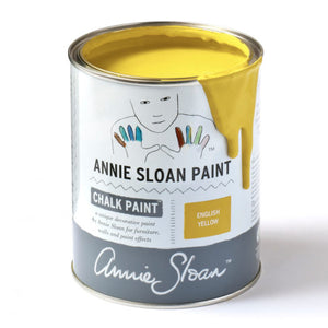 A litre of Chalk Paint® by Annie Sloan ™ in English Yellow