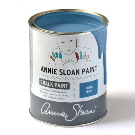 A litre of Chalk Paint® by Annie Sloan ™ in Greek Blue