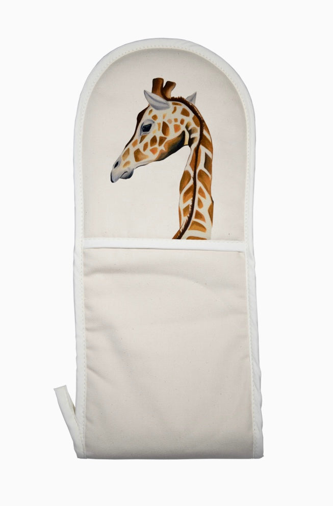 Gloria The Giraffe oven mitt