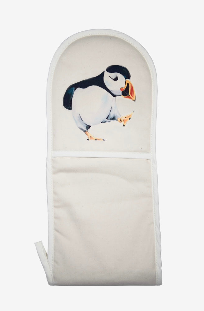 Percy the Puffin oven mitt