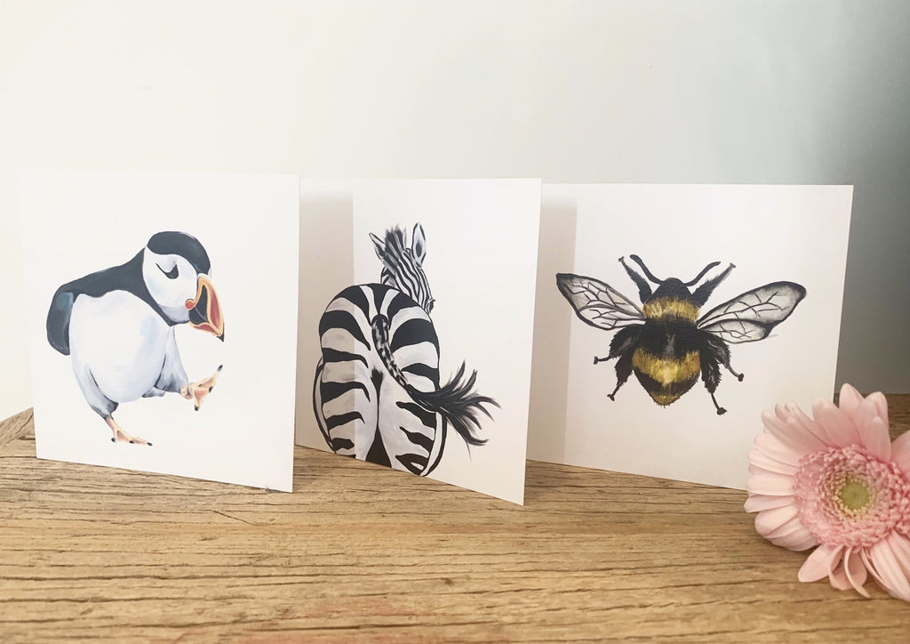 Zara the Zebra greeting card