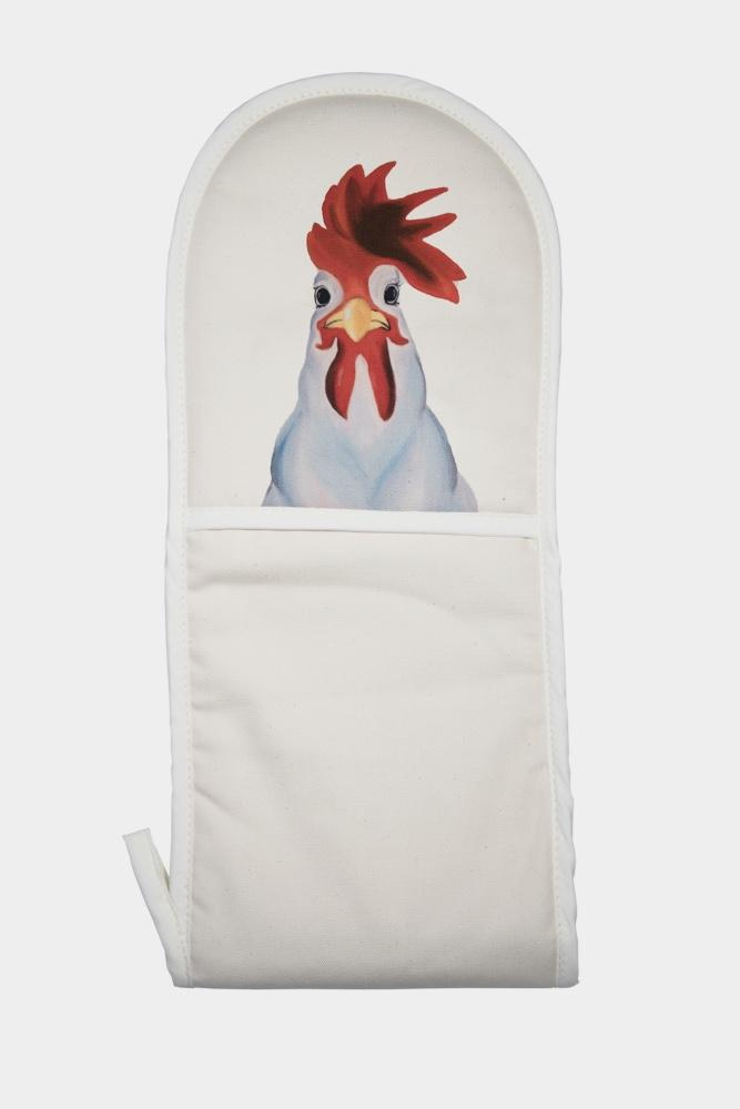 Collin the cockerel oven mitt