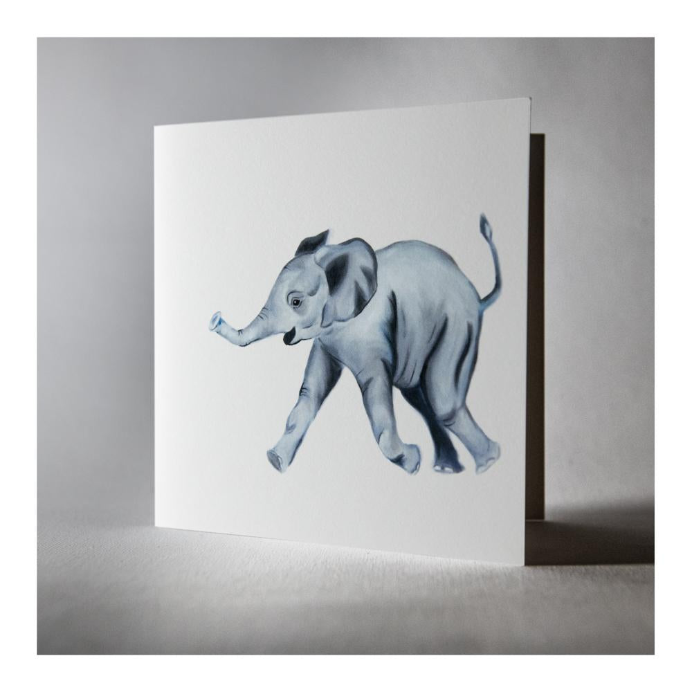 Edward the Elephant greeting card