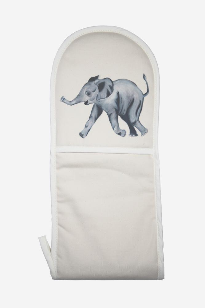 Edward the elephant oven mitt