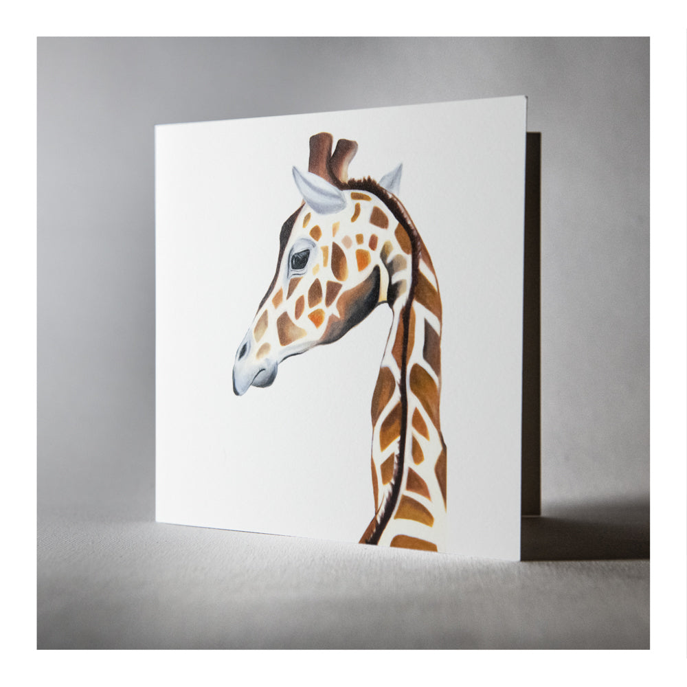 Gloria the giraffe greeting card