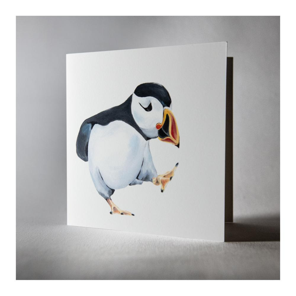 Percy the Puffin greeting card
