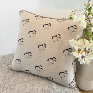 Percy the Puffin cushion