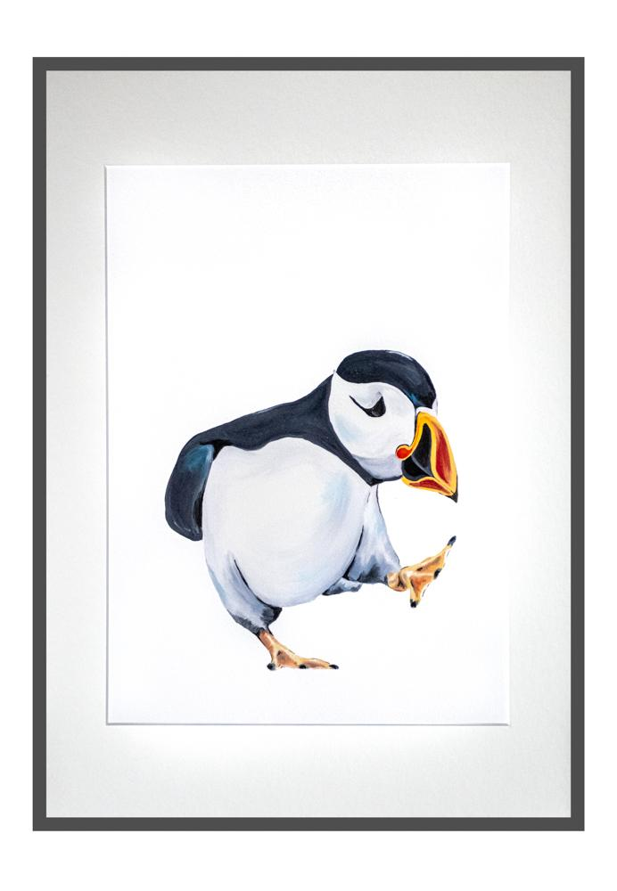Percy the Puffin print