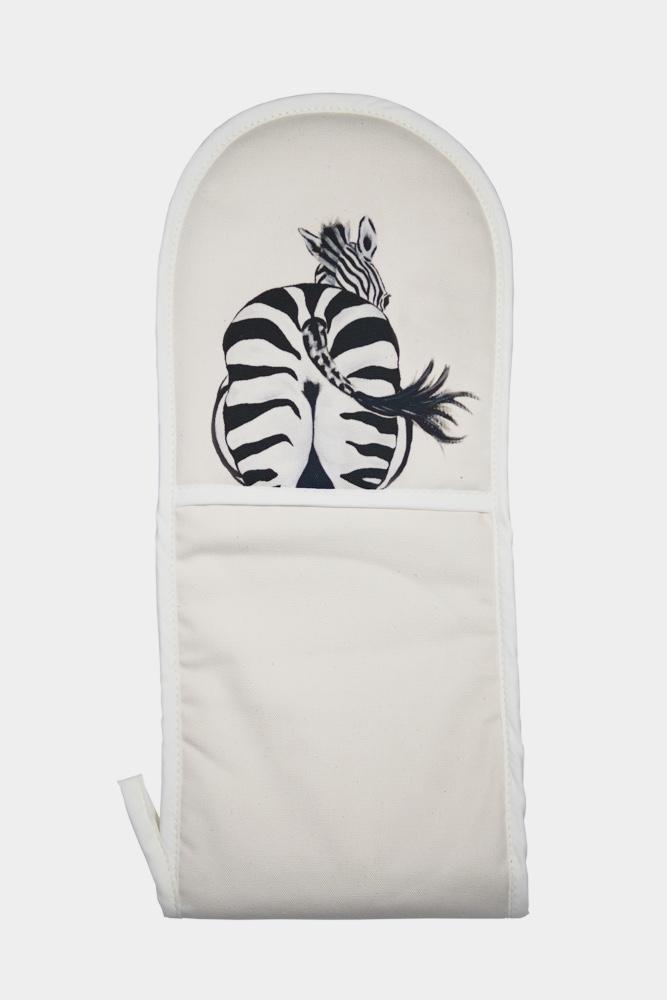 Zara the Zebra oven mitt