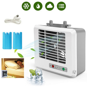 USB Mini Portable Air Conditioner Cooler Fan  Personal Space Air Cooling Fan