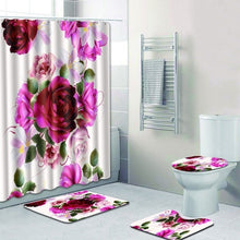 Load image into Gallery viewer, 4pcs Bathroom Set Decor Washable Non-slip Modern