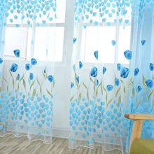 Load image into Gallery viewer, Hot Sell Tulip Flower Voile Curtains