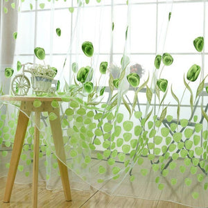 Hot Sell Tulip Flower Voile Curtains