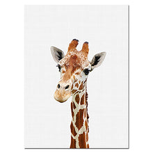 Load image into Gallery viewer, Baby Animal Poster Panda Giraffe Elephant Canvas Painting