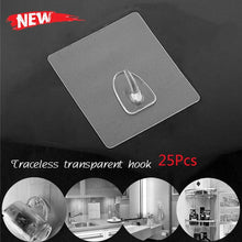 Load image into Gallery viewer, Anti-skid Hooks Reusable Transparent Wall Hanging Hooks 25pcs