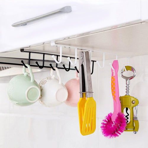 Kitchen Storage Rack Cupboard Hanging Hook