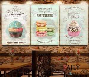 Kitchen Restaurant Dessert Bread Canvas Painting