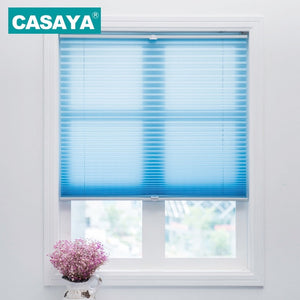 Trim-at-Home Cordless Pleated Blinds Light Filtering Shade Child Safety