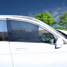 Load image into Gallery viewer, 2Pcs Car Sun Visor Rear Side Window Cover Sun Shade Mesh Fabric Shield UV Protector