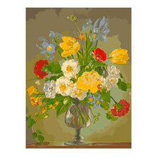 Load image into Gallery viewer, Pink Lily Painting By Numbers Flower Vase Oil Painting On Canvas Hand Painted