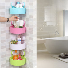 Load image into Gallery viewer, Plastic Suction Cup Bathroom Storage Rack Organizer