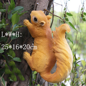 Resin Squirrel Ornament Craft Decoration