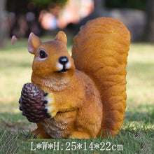 Load image into Gallery viewer, Resin Squirrel Ornament Craft Decoration