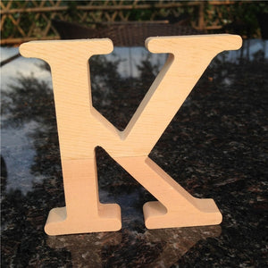 10cm High Wood Wooden Letters A to Z Alphabet
