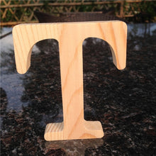 Load image into Gallery viewer, 10cm High Wood Wooden Letters A to Z Alphabet