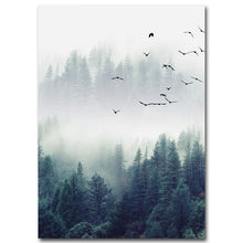 Load image into Gallery viewer, Nordic Decoration Forest Landscape Wall Art Canvas