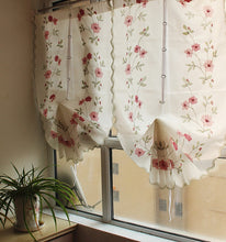 Load image into Gallery viewer, 1 Piece Rose flower Printed Roman Curtain