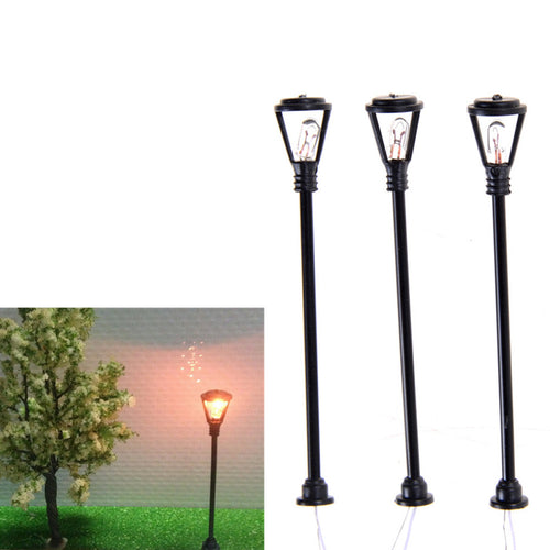 10pcs/set mini decor street lamp