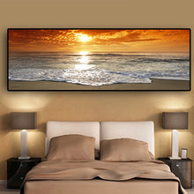 Load image into Gallery viewer, Sunsets Natural Sea Beach Landscape Canvas Painting