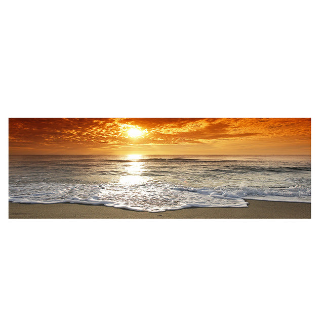 Sunsets Natural Sea Beach Landscape Canvas Painting