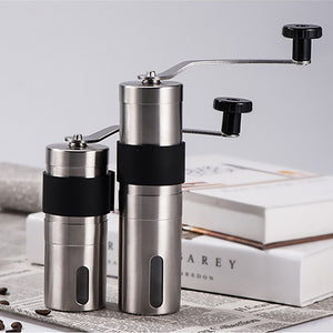 2 Size Manual Ceramic Coffee Grinder Stainless Steel Adjustable Coffee Bean Mill