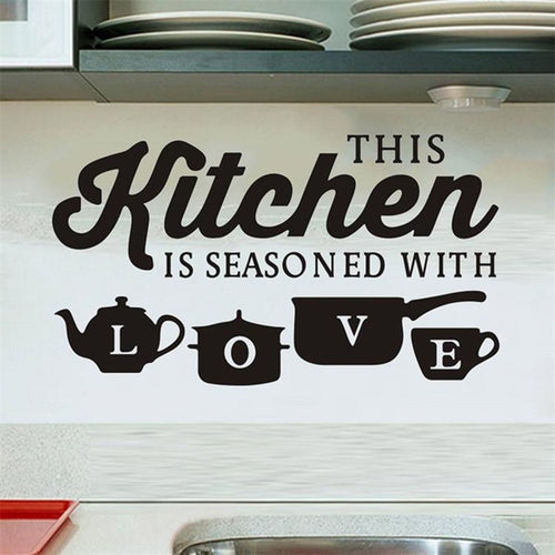 Kitchen Restaurant Creative Carved Wall Stickers Removable