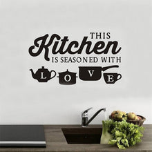 Load image into Gallery viewer, Kitchen Restaurant Creative Carved Wall Stickers Removable