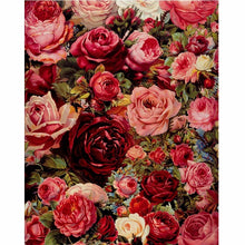 Load image into Gallery viewer, Framed Oil Painting By Numbers Flowers Pictures Canvas Painting