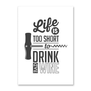 Wine Life Quotes Canvas Painting Wall Art Murals Still life Photos