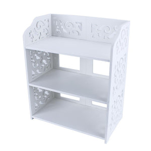 3 Tiers White Hollow Out Shoe Rack Stand Storage Organiser Shoes Shelf